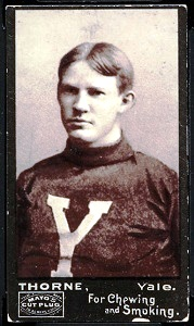 1894 Mayo Cut Plug Brinck Thorne football card