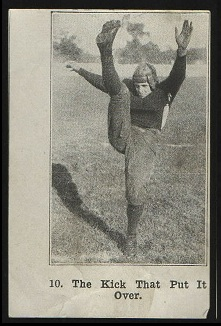 The Kick That Put It Over 1926 Shotwell Red Grange Ad Back football card