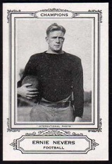 Ernie Nevers 1926 Spalding pre-rookie football card
