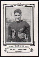 Benny Friedman 1926 Spalding pre-rookie football card