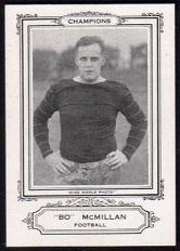 Bo McMillin 1926 Spalding Champions football card