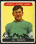 Jim Thorpe 1933 Sport Kings football card