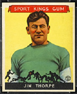 1933 Sport Kings Jim Thorpe rookie card