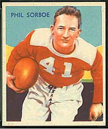 Phil Sarboe 1935 National Chicle football card