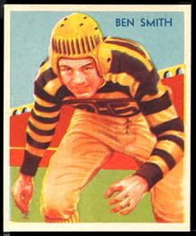 1935 National Chicle Ben Smith football card