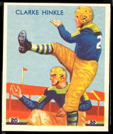 Clarke Hinkle 1935 National Chicle football card