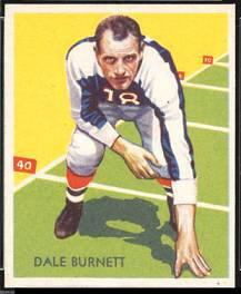 Dale Burnett 1935 National Chicle football card