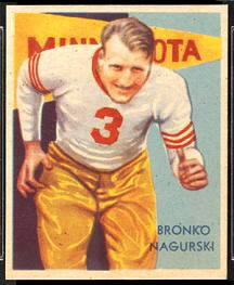 1935 National Chicle Bronko Nagurski rookie football card