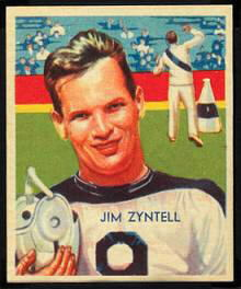 Jim Zyntell 1935 National Chicle football card