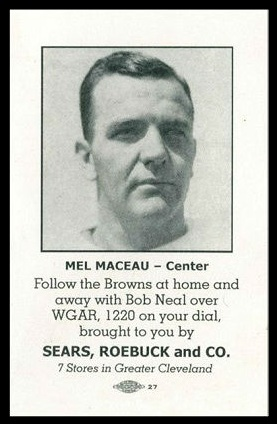 Mel Maceau 1946 Sears Browns football card