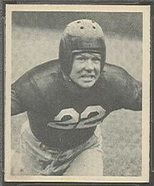 Chris Iversen 1948 Bowman football card