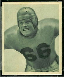 Gil Bouley 1948 Bowman football card