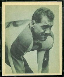 Vic Lindskog 1948 Bowman football card