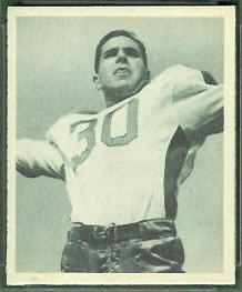 Bosh Pritchard 1948 Bowman football card