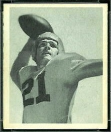 Jim Hardy 1948 Bowman football card