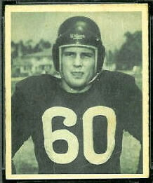 Bill Gray 1948 Bowman football card