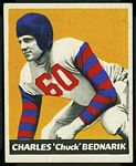 Chuck Bednarik 1948 Leaf football card