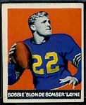 Bobby Layne 1948 Leaf football card