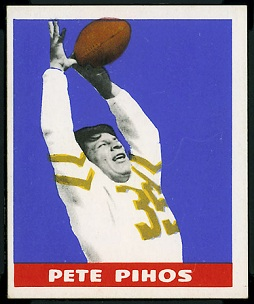 Pete Pihos 1948 Leaf rookie football card