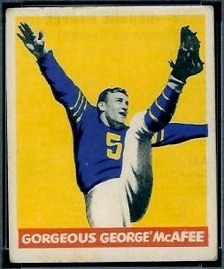 George McAfee 1948 Leaf football card