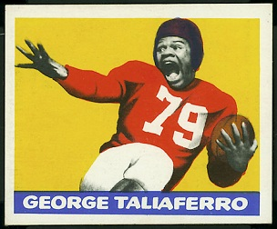 1948 Leaf George Taliaferro rookie football card