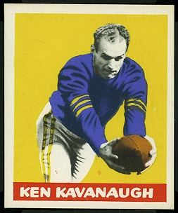Ken Kavanaugh 1948 Leaf football card