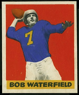 Bob Waterfield 1948 Leaf rookie football card