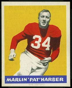 Pat Harder 1948 Leaf rookie football card