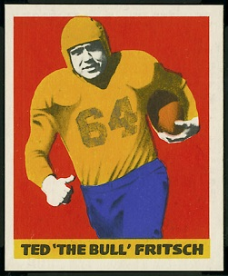 Ted Fritsch Sr. 1948 Leaf football card
