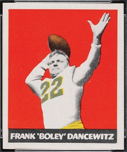 Boley Dancewicz 1948 Leaf football card