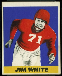 Jim White 1948 Leaf football card