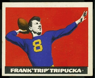 Frank Tripucka 1948 Leaf football card