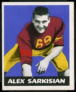 Alex Sarkisian 1948 Leaf football card