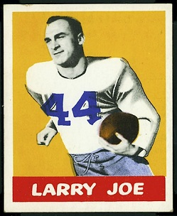 Larry Joe 1948 Leaf football card
