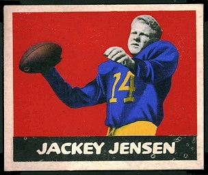 Jackie Jensen 1948 Leaf football card
