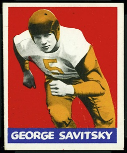 George Savitsky 1948 Leaf football card