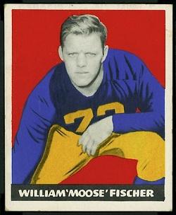 1948 Leaf Bill Fischer rookie football card