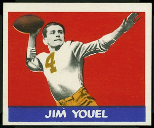Jim Youel 1948 Leaf football card