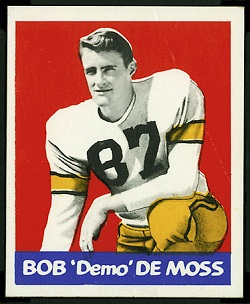 Bob DeMoss 1948 Leaf football card