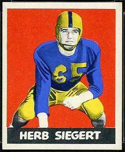 Herb Siegert 1948 Leaf football card