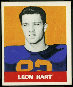 Leon Hart 1948 Leaf rookie football card