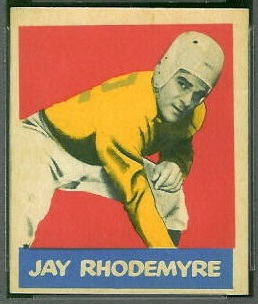 Jay Rhodemyre 1949 Leaf football card