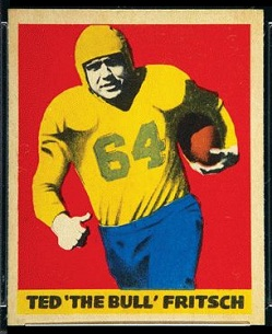 Ted Fritsch Sr. 1949 Leaf football card