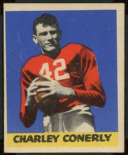 Charley Conerly 1949 Leaf football card