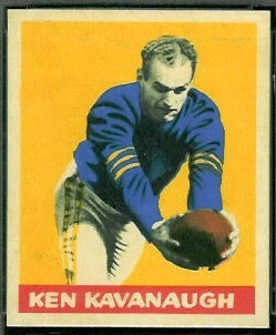 Ken Kavanaugh 1949 Leaf football card