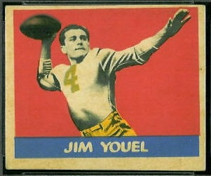 Jim Youel 1949 Leaf football card