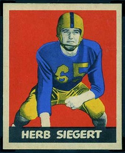 Herb Siegert 1949 Leaf football card