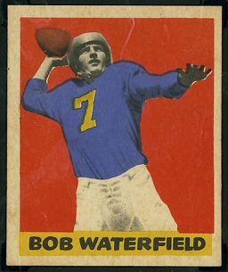 Bob Waterfield 1949 Leaf football card