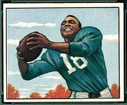Wally Triplett 1950 Bowman football card