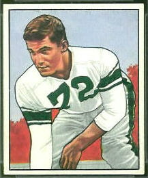 Earl Murray 1950 Bowman football card